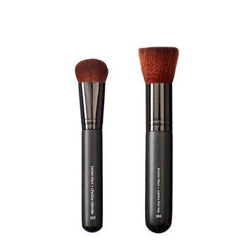 Makeover Vegan Love Chubby Blender and Jumbo Flat Top Brush