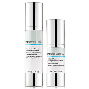 Skin Pharmacy Lift and Firm Collagen Facial Serum and Free Radical Defence Daily Moisturiser
