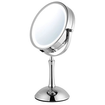 Ovente MDT70CH 7.0 inch Battery Operated LED Lighted Tabletop Vanity Makeup Mirror