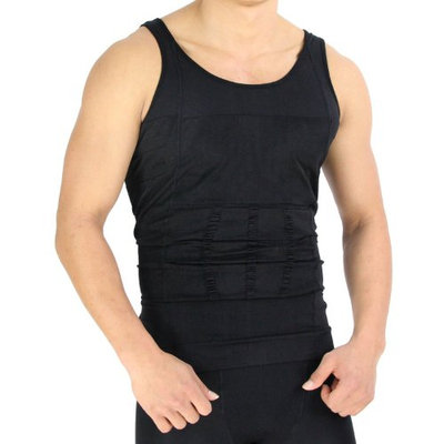 Beautyko Invisible Body Shaper Slimming Shirt with Posture Corrective Support and Firming Panels