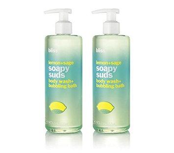 bliss Lemon plus Sage Soapy Suds Shower Gel Set
