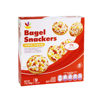 Ahold Bagel Snackers Three Cheese Mini Pizza Bagels - 9 CT