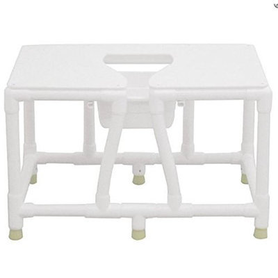 MJM International 156-FSS-26 Bariatric bedside commode with full support seat