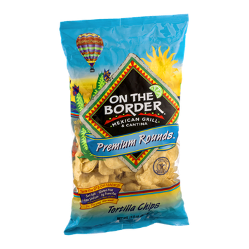 On The Border Tortilla Chips Premium Rounds