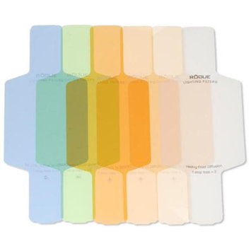 Rogue Flash Gels Color Correction Filter Kit: 18 Filters, 3 Attachment Bands & Pouch