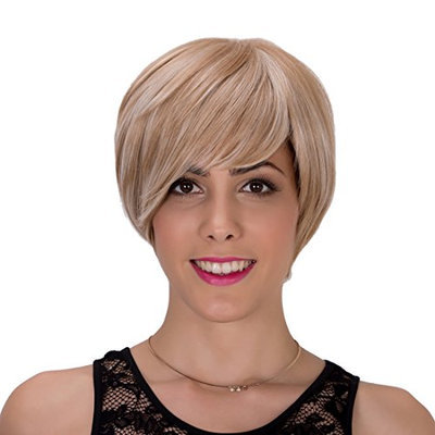 Probeauty Mix Short Synthetic Hair Women Ladies Daily Use Replacement Wig