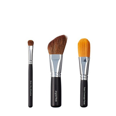 VEGAN LOVE Wet/Dry Shadow Angled Face Total Coverage Face Brush Trio