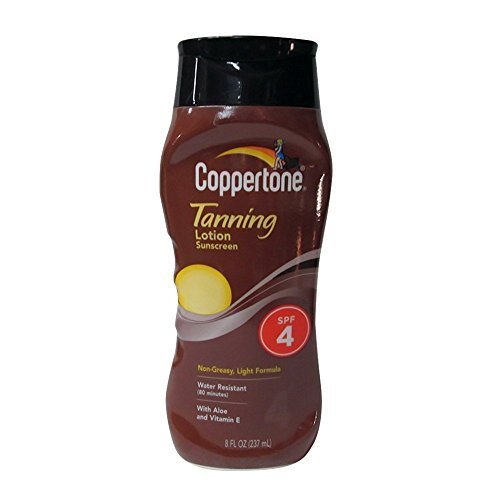 Coppertone SPF 4 Sunscreen Lotion Bottle