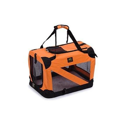 Pet Life Orange Vista View Collapsible Carrier MD