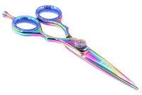Suvorna Professional Barber Multicolor Titanium Razor Edge Hair Cutting Shears/Scissors Razeco E45