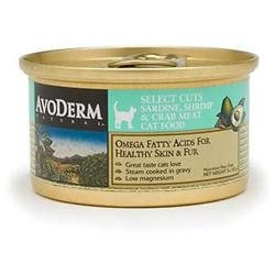 AvoDerm Natural Select Cuts Sardine, Shrimp & Crab Meat Canned Cat Food