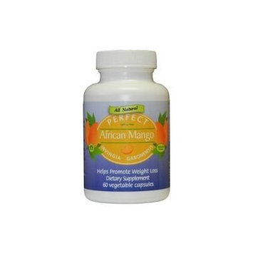 PERFECT African Mango Irvingia Gabonensis with 150mg of 100% Pure and Clinically-Proven IGOB131 - 60 Capsules - Helps Promote Weight Loss