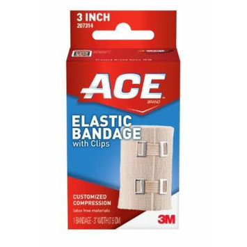 ACE Elastic Bandage with Clips, 3 Inches (Pack of 2)