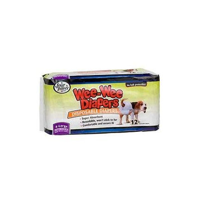 Four Paws Wee-Wee Disposable Doggie Diapers - X-Large