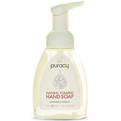 Puracy Natural Foaming Hand Soap - Sulfate-Free - Lavender & Vanilla - The BEST Natural Foam Hand Wash - Plant-Based - Non-Toxic - 8.5-Ounce Bottle