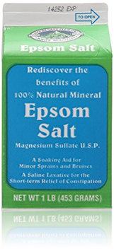 White Mountain Epsom Salt 1 Lb / 16 Oz Container (Pack of 4)