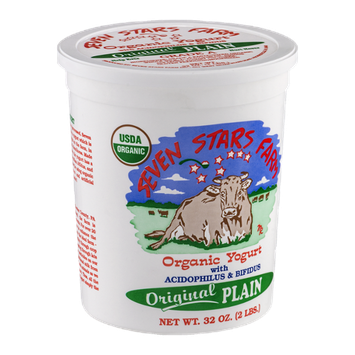 Seven Stars Farm Organic Yogurt Original Plain