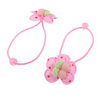 Uxcell 2 Piece Plastic Cherry Decor Elastic Hair Tie Ponytail Holders