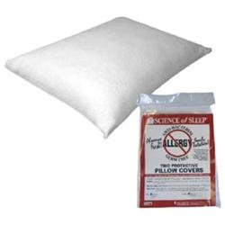 Hudson Science of Sleep Allergy Free Pillow Protectors-Twin Pack