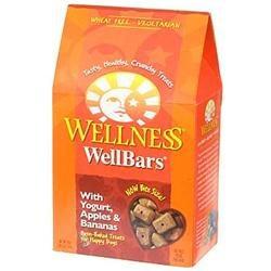 Wellness WellBars Yogurt, Apple, Banana 20oz Box Dog Treats