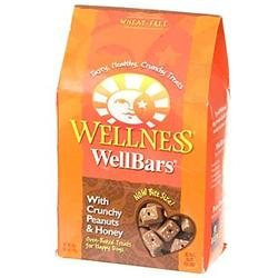 Wellpet Llc Wellness WellBars Peanuts & Honey 20oz Box Dog Treats