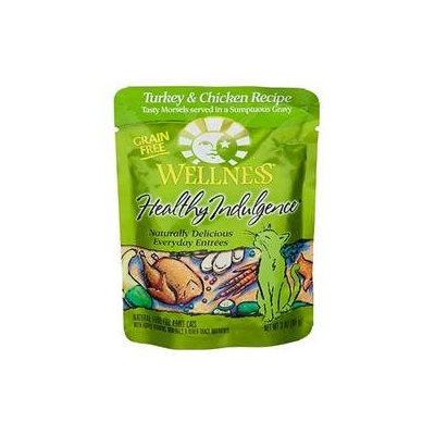 Wellness Healthy Indulge Turkey Wet Cat Food 24pk