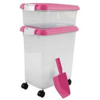 Iris Usa Inc Iris Airtight Food Storage and Scoop Combos Pink