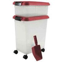 Iris Usa Inc Iris Airtight Food Storage and Scoop Combos Red