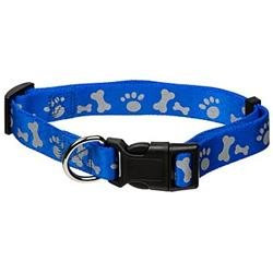 Doskocil - Aspen Pet 16in. To 26in. x 1in. Royal Blue Adjustable Reflective Dog Collar