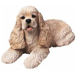 Sandicast Original Size Cocker Spaniel Sculpture in Buff