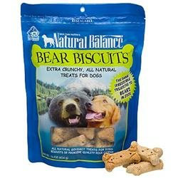 Tural Balance Pet Foods Inc Natural Balance Bear Biscuits Dog Treats, 16 oz.