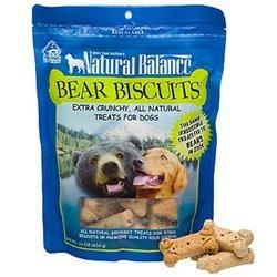 Tural Balance Pet Foods Inc Natural Balance Bear Biscuits Dog Treats, 16 oz.