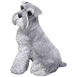 Sandicast Original Size Schnauzer Sculpture in Gray
