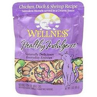 Wellness Pet Products 62068 Chicken Duck Shr Pouch Cat Food