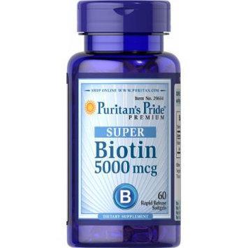 Puritan's Pride Biotin 5000 mcg-60 Softgels