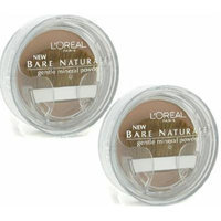 L'Oreal LOREAL Bare Naturale Gentle Mineral Powder Compact with Brush #414 CREAMY NATURAL (Qty, Of 2) DISCONTINUED