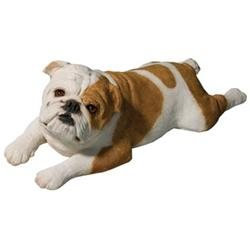 Sandicast Original Size Bulldog Sculpture in Fawn