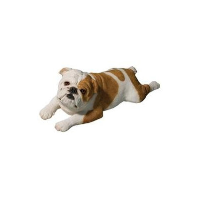Sandicast Original Size Bulldog Sculpture in Fawn