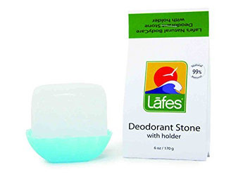 Lafes 100% Natural Crystal Stone Deodorant with Dish