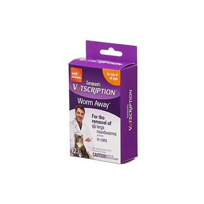 Sergeant's Vetscription Worm Away Capsules for Cats