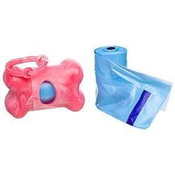 Bags on Board Marble Waste Bag Dispenser Pink