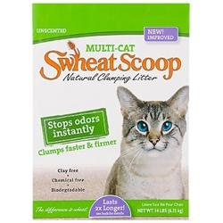 Pet Care Systems - Swheat Scoop Multi Cat Litter 14 Pound - SSMC14-860525 -Pack of 4