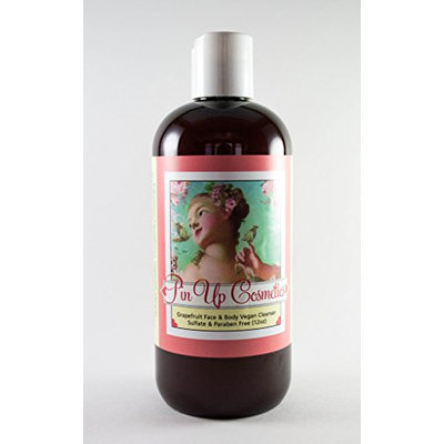 Pin Up Cosmetics Vegan Face and Body Cleanser Grapefruit (12oz.)