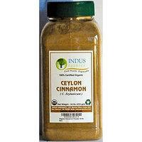 Indus Organics Indus Organic Ceylon Cinnamon Powder 1 Lb (X2 Jars) Premium Grade, Freshly Packed