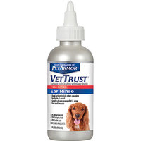 VetTrust Medicated Ear Rinse for Dogs & Cats, 4 fl oz