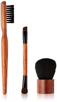 ON&OFF Wooden Baby Buki Duo Eye and Jumbo Brow Brush
