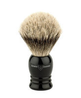 Edwin Jagger 1ej256sds Traditional English Super Badger Hair Shaving Brush Faux Ebony Medium With Drip Stand