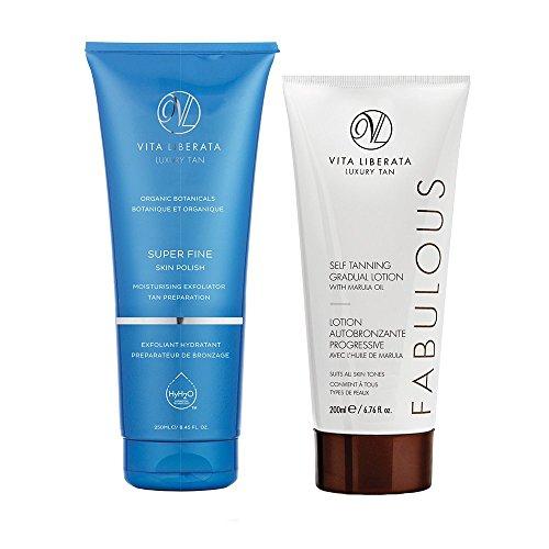 Vita Liberata Super Fine Skin Polish & Fabulous Gradual Self Tanning Lotion Duo