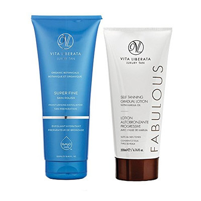Vita Liberata Super Fine Skin Polish & Fabulous Gradual Self Tanning Lotion Duo