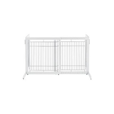 Essential Pet Richell Freestanding Tall Pet Gate in Origami White, Small